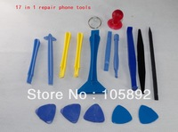 Wholesales 100 sets 17-in1 Opening Tools Repair Tool Phone Disassemble Tools set Kit For  iPhone iPad HTC Cell Phone Tablet PC