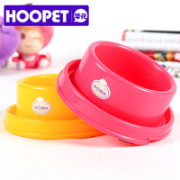 Free shipping leak-proof plastic pet tableware easy wash dog cat bowl with slip-resistant pad