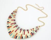 ( Min order is 10usd) Mix order !! fashion Jewelry Colorful Enamel Statement Bib Collar Necklace  ZW 5030