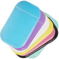 Super Sticky Pad Car Anti-slip Multi-functional Mat For Mobile Phone / Glasses / Card / Paper - 7 Optional Colors
