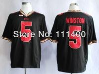 Free shipping NCAA Florida State Seminoles (FSU) Jameis Winston 5# 2014 Football Jerseys stitched,size 48-56