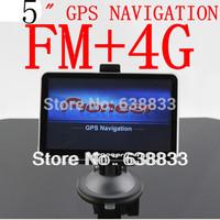 car gps navigator 5'' 5 Inch GPS NAVIGATOR MSTAR 800MHz ddr 128M Internal 4GB go Primo/navitel map FM mp3/mp4 free drop shipping