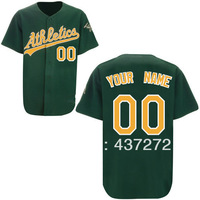 Free Shipp oakland athletics black/white blank customized men's stitched baseball jersey with your name and number