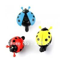 Free Shipping 2pcs Ladybug Bike Bicycle Cycling Handlebar Ring Sound Horn Bell Alarm