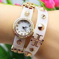 9 colors New Arrival Plastic Chain Watch Punk Rivet Cross Watches Excellent Quality 1pcs/lot