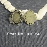 40PCS/LOT inner:18x25mm  Alloy/Metal Antique Bronze Blank Pendant Bases Cameo Cabochon