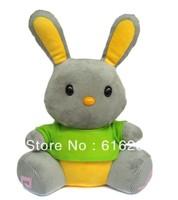 2014most popular doll Speaker with FM Radio Mini Speaker support U Disk SD Card-Green Rabbit