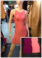 2014 new purple pink sleeveless H453 bandage cocktail and party Dresses