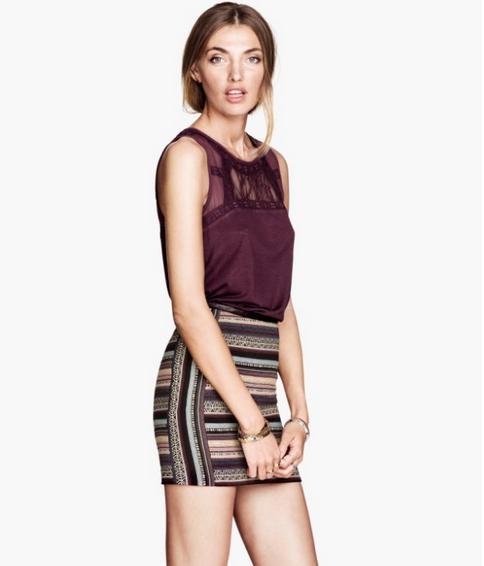 2014 New Fashion Ladies' sexy Striped Mini Skirts skinny slim fit stylish skirt vintage casual slim brand skirts(China (Mainland))