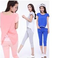 Flouncing Short-Sleeve Sweatshirt Plus Size Casual Korean Hoodies Set Female Fashion Summer ioeoi1027 XL-XXL-XXXL-XXXXL