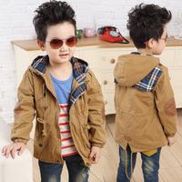 2013 male child autumn new arrival outerwear children child trench zipper casual medium-long outerwear 8811