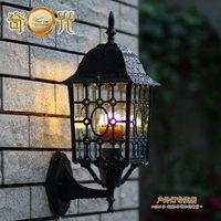Wall lamp fashion outdoor waterproof wall lamp courtyard gazebo ring wall lamp 10W LED Bulb E27