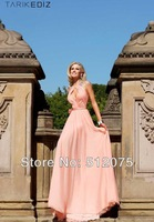 Free Shipping Sexy Long Evening Dress New Arrives Beadings Cap Sleev e Evening Party Dresses