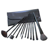 free shipping  thirsty makeup artist dedicated 12 makeup brush with makeup brushes 12 pack