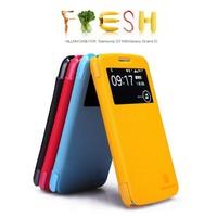 NILLKIN Fresh side flip Leather case For Samsung Galaxy Grand 2 G7106,wake up/sleep + retailed + free shipping