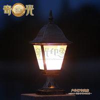 Column head outdoor lamp waterproof IP68 post dome light  railing garden lights with 1PCS Super Bright 15W E27 Bulb