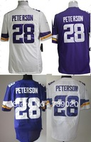Free Shipping 2013 #28 Adrian Peterson American Football Jerseys Embroidery and Sewing logos accept mix order