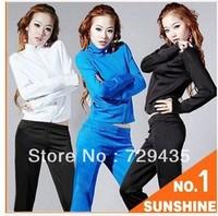 Free Shipping 2013 Sweatshirt Women Sport Suit Women Brand Active Hoodies Clothing Coat+Pants 2 pcs Set Lady Casual Sports Wear