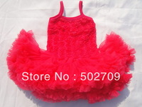Hot sale rose pink color chiffon rose flower kids girls pettiskirt,tutu skirts(3pcs/lot)