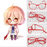 Promotions! Kyoukai no Kanata Kuriyama Mirai cosplay accessories red round glass