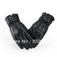 Winter new fashion men's Genuine gloves High quality gloves  motorcycle Cycling gloves  waterproof  Outdoor sports  -16A
