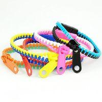 Factory Direct 2014 Fashion Colorful Zipper Bracelet 10 Colors Girls Bracelet Jewelry Free Shipping 20pcs/lot