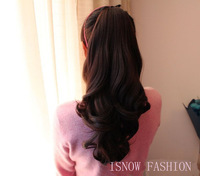 "Free shipping(min $20) 20""(50CM)  ponytails clip in hair extensions ponytail synthetic hair piece accessories 5colors"