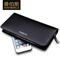 men genuine leather black long brand wallets mens wallet purse men multi clutch bag credit card holder carteira masculina couro