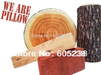 high-elastic cotton core  simulation Brick Pillow / Tree Stump Wood Pillow / Green Log Pillow / Batten Pillow