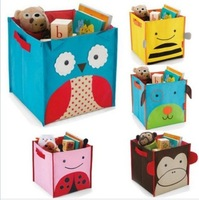 Kid's Children's Baby toys storage box Zoo Animal storage bag folding canvas Organizer Case for toys