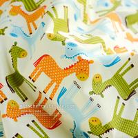 handicraft material Xw012 green orange blue stripe slanting 100% cotton cloth bedding handmade diy fabric  handmade accessory