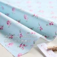 handicraft material Xw021b romantic blue - rosula 100% cotton denim fabric diy  needlework