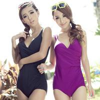 beach wear Steel female swimwear one piece triangle c d e f cup plus size plus size large cup swimwear  swimwear