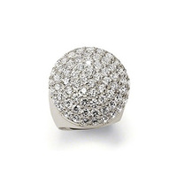 New! Wholesale Free shipping 925 silver ring / 925 silver Unique white crystal ring size 8  THSR10B
