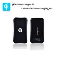 DIY Black K8 QI universal wireless charging pad wireless charger qi charger transmitter for SAMSUNG S3 S4 NOTE2 HTC Nokia LG