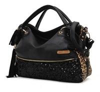 2013 Fashion bag casual leopard print paillette bag women's handbag H990
