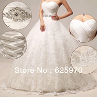 White Plus Size Sexy Lace Wedding Dress 2014 NEW For Girls Bride Men Unique Beautiful Brand Designer   Dresses Cheap Free
