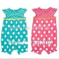 Retail 2014 Hot Sell Original Carter's Bebe Girl's Polka Dot Summer Cotton Romper for Infantil 6M/9M/12M/18M/24M
