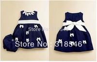 high quality Free shipping 6setss/lot  children clothing sets baby clothing set  baby girls dress +shorts