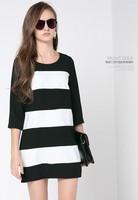 Peacebird women's 2014 spring patchwork block color all-match formal dress