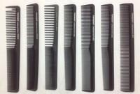 Hot Sale 120pcs/LOT Professional Hair comb Carbon Comb Anti-static Salon Comb Barber Comb Hair Styling Tools 15Sizes Optional