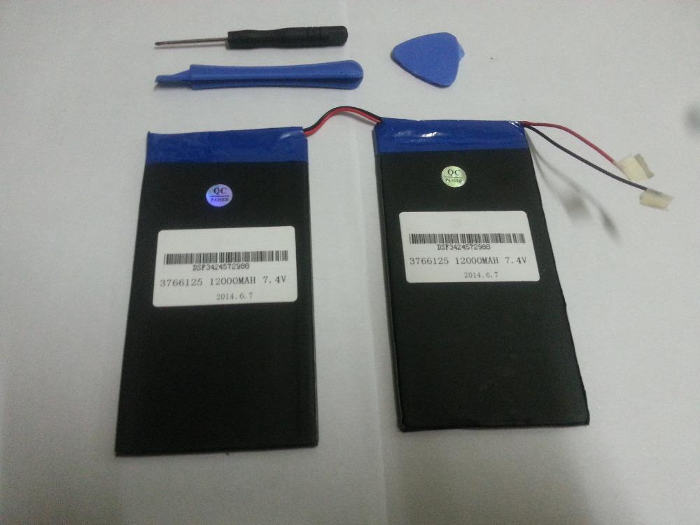 7.4V 12000mAh CUBE U30GT U30GT1 U30GT2 tablet battery plates 66MM * 3.7MM * Length 125MM *2(China (Mainland))