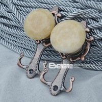 Bronze plated three-color gold marble curtain hook wall hook hanging ball bandage hook wall hook