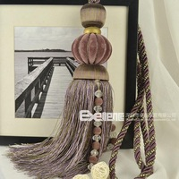 Double 12 new arrival luxury floccular bead crystal hanging ball curtain accessories curtain buckle bandage ball