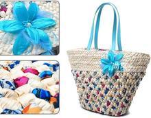 Mulheres mensageiro sacos novos três transporte flores de penas bohemian floral tecidos à mão saco de pano saco de praia bolsa de palha natural(China (Mainland))