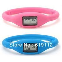 Anion silicone waterproof sports digital wrist watch gift for men women,Elastic power bracelet Free Shipping by Express