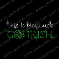 50Pcs/Lot Free Shipping This Is Not Luck Go Irish Hot Fix Transfer Iron On St. Patrick'S Day Design Rhinestone Appliques