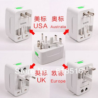 300PCS All In One Travel universal AC Power Charger Plug Adapter US UK EU AU portable Free Shipping