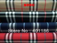 Pf8 Checked Cotton Lattice Plaid fabric cloth textile big tartan biege black blue red color retail or wholesale