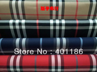 Pf8 Checked Cotton Lattice Plaid fabric cloth textile big tartan biege black blue red color retail or wholesale